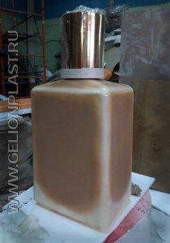 Макет стеклянной тубы лака для ногтей из пенопласта