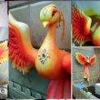 Жар-птица из пенопласта для для ЦДМ на Лубянке
