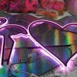 Фламинго и сердце из гибкого неона